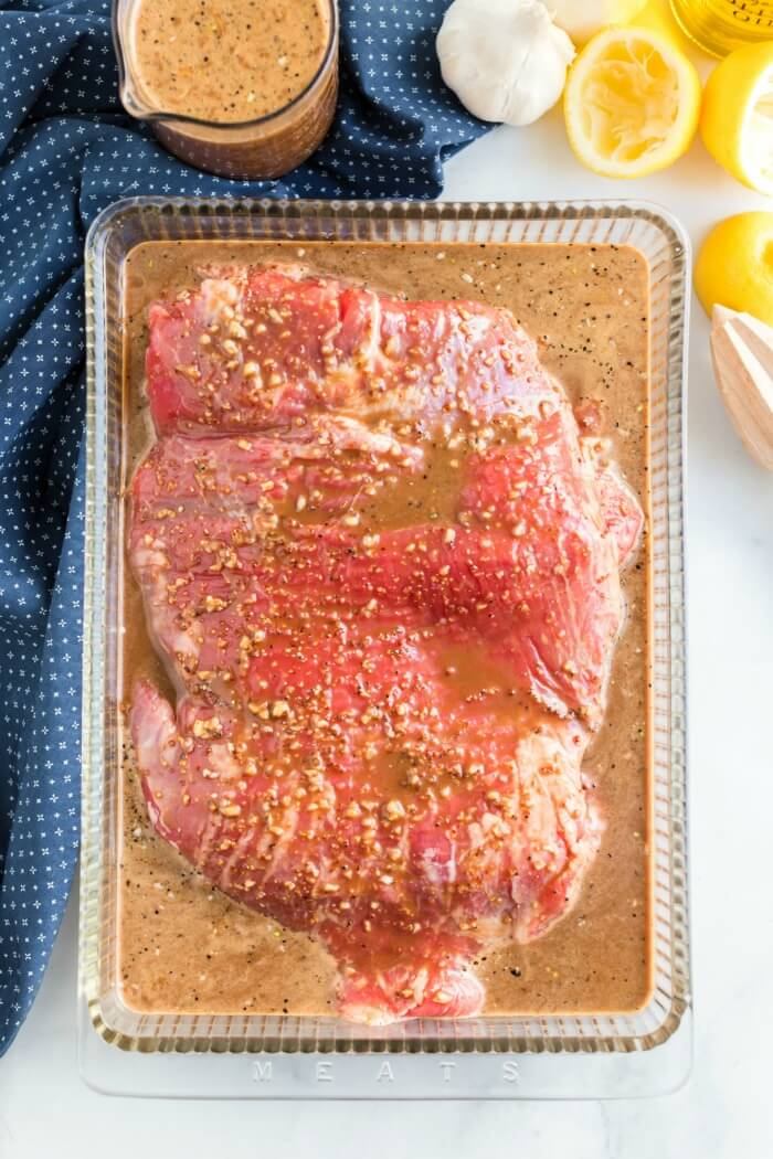 FLANK STEAK IN MARINADE