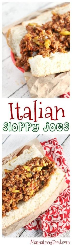 Italian Sloppy Joes Recipe