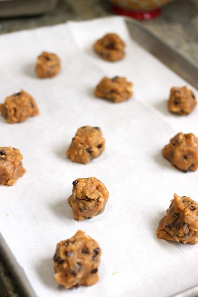 Flourless Chocolate Chip Peanut Butter Cookies
