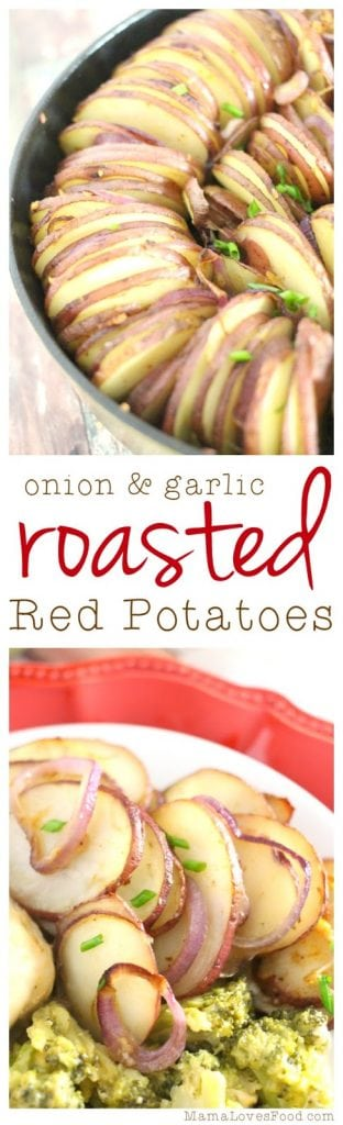 Onion and Garlic Roasted Red Potatoes