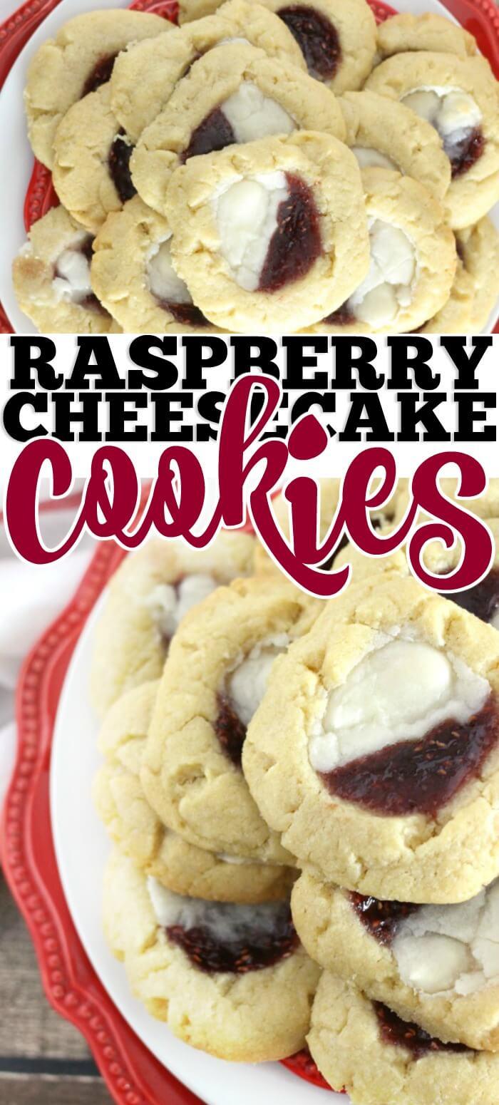 RASPBERRY CHEESECAKE COOKIES RECIPE