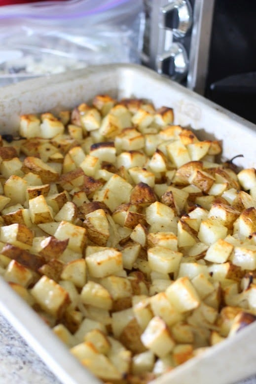 Roasted Garlic Potato Bites