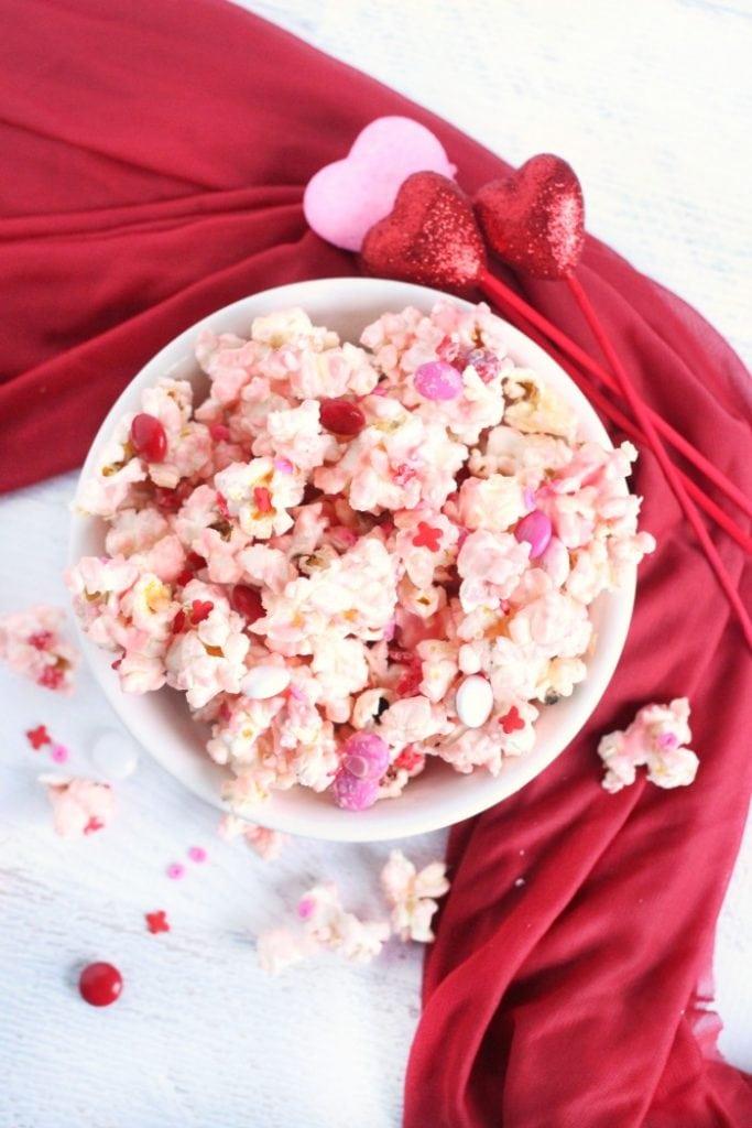 Vanilla Butter Valentine's Day Popcorn Recipe