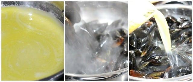 Lemon Garlic Steamed Mussels Recipe