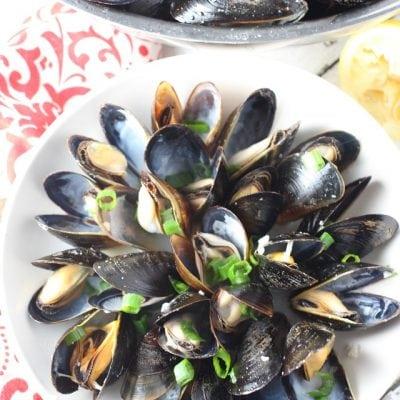 lemon garlic mussels