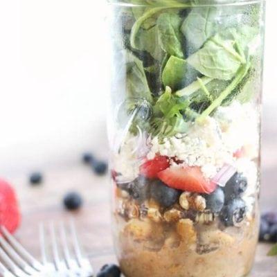 Strawberry Blueberry Balsamic Vinegar Salads