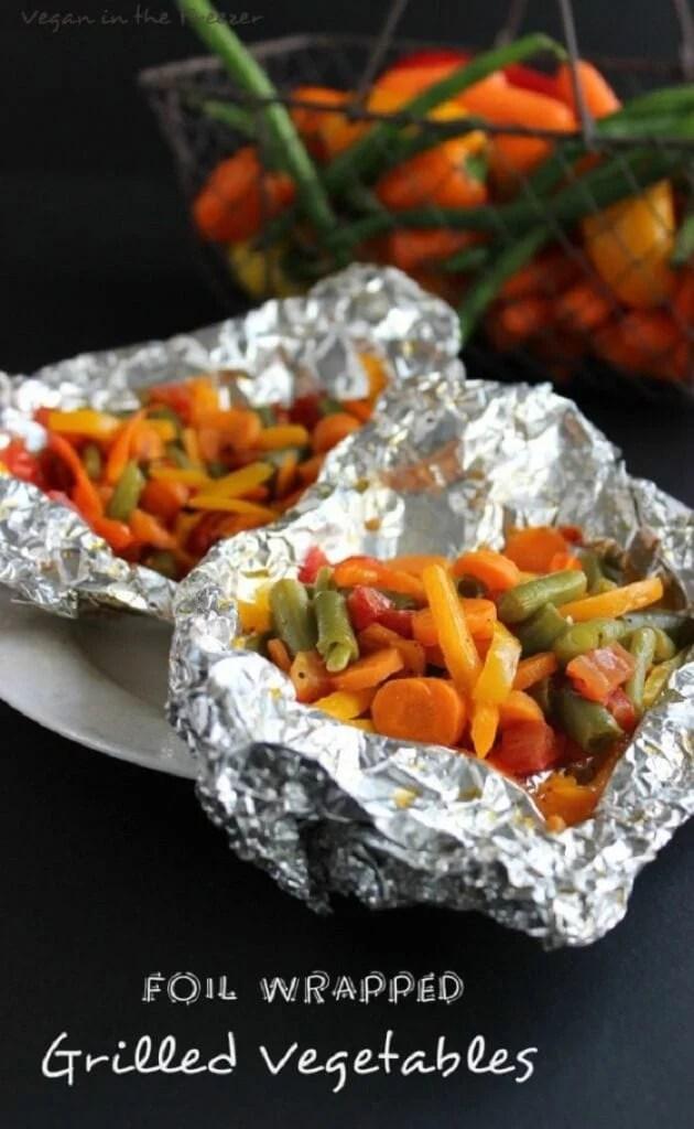 Foil Wrapped Grilled Vegetables