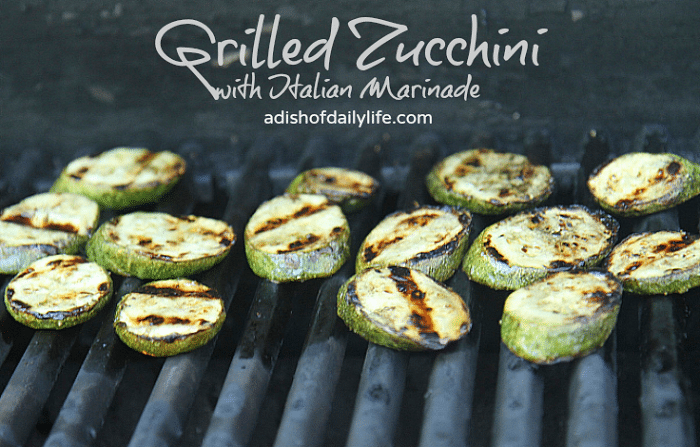 Grilled Zucchini With Italian Marinade