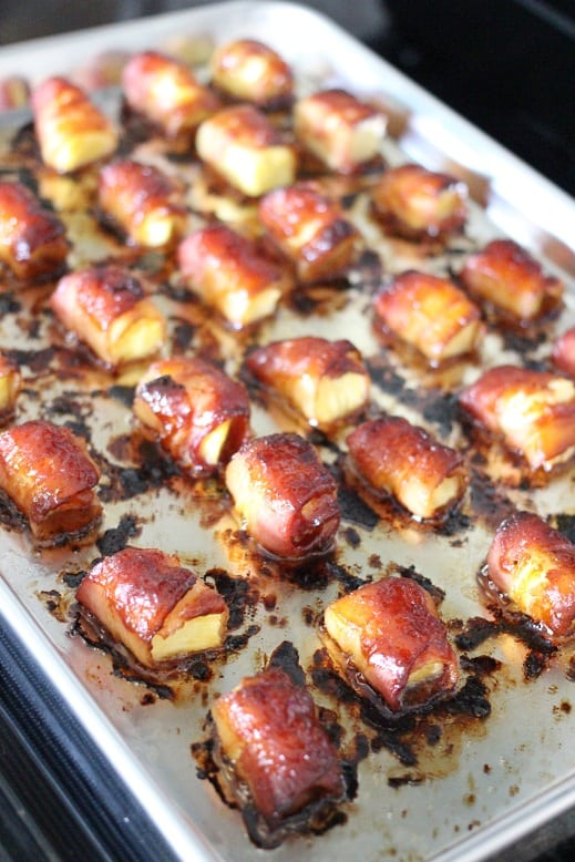Bacon Wrapped Pineapple Bites
