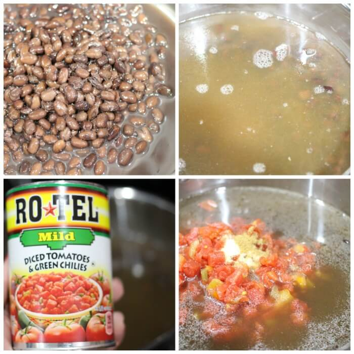 INGREDIENTS FOR BLACK BEAN SOUP