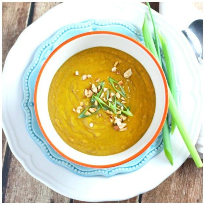 Sweet Potato Peanut Curry Soup Recipe