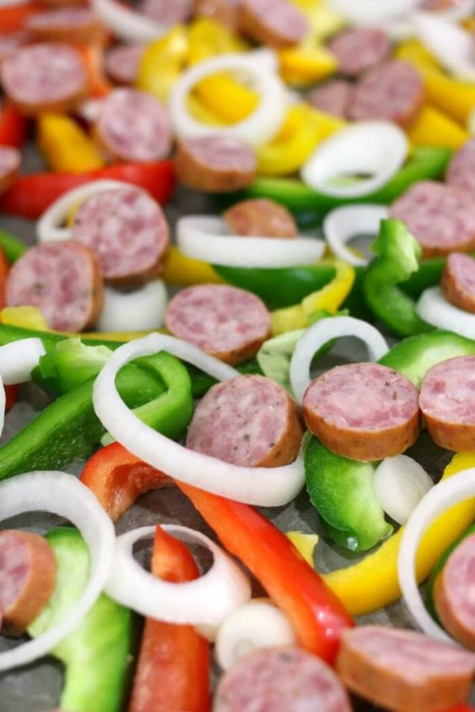 how to make sausage and peppers on one pan for dinner