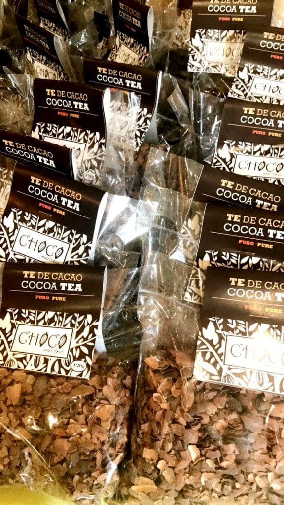 cocoa tea drink in cartagena colombia te de cacao
