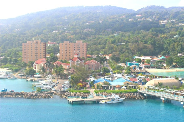 ocho rios jamaica coastline from a cruise ship