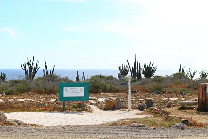 view from alto vista pilgrim's chapel in aruba