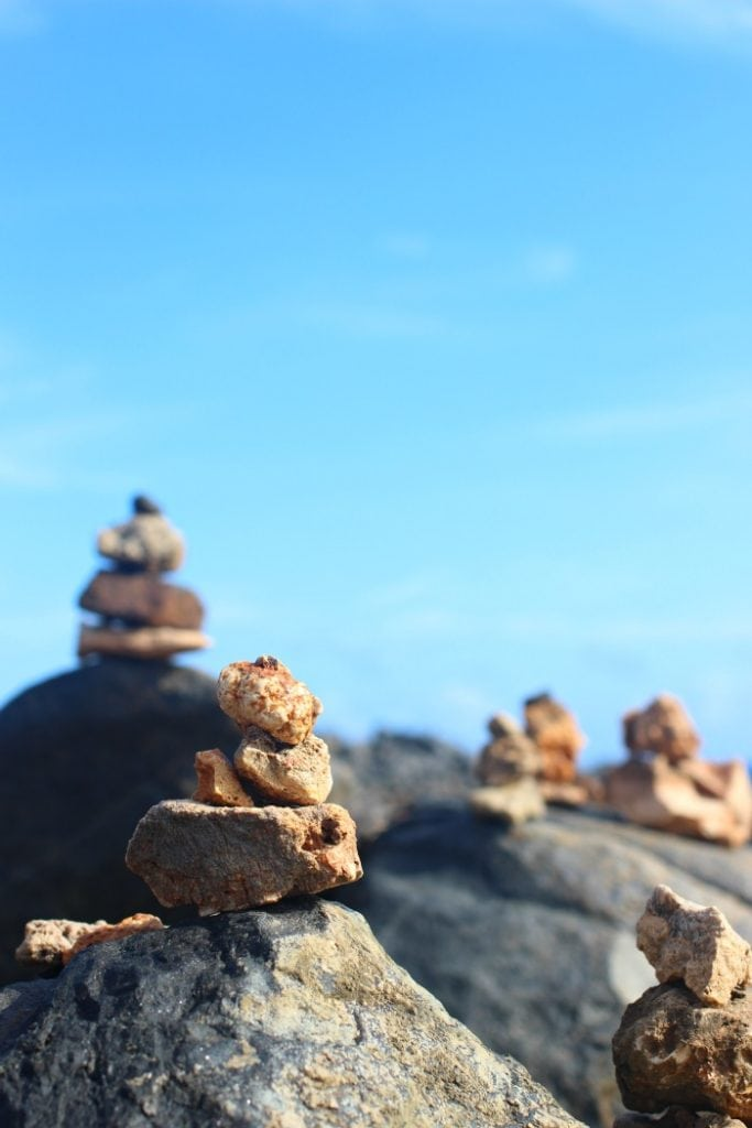 rock cairns in aruba stay safe in aruba