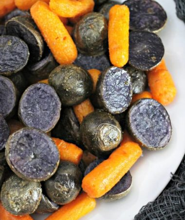 CARROTS AND PURPLE POTATOES