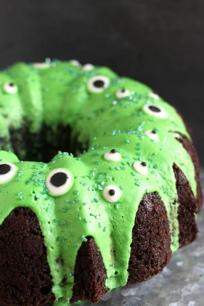 Monster Bundt Cake How To Make A Simple Monster Cake