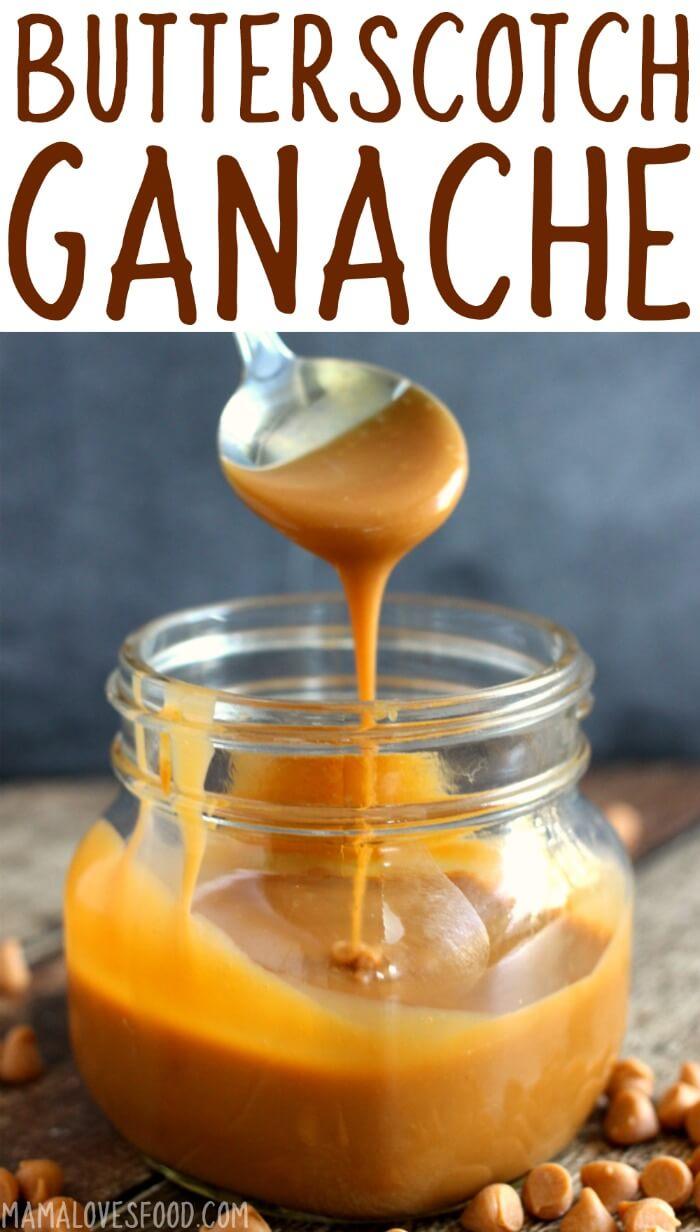 Microwave Butterscotch Ganache