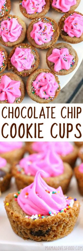 EASY CHOCOLATE CHIP COOKIE CUP RECIPE