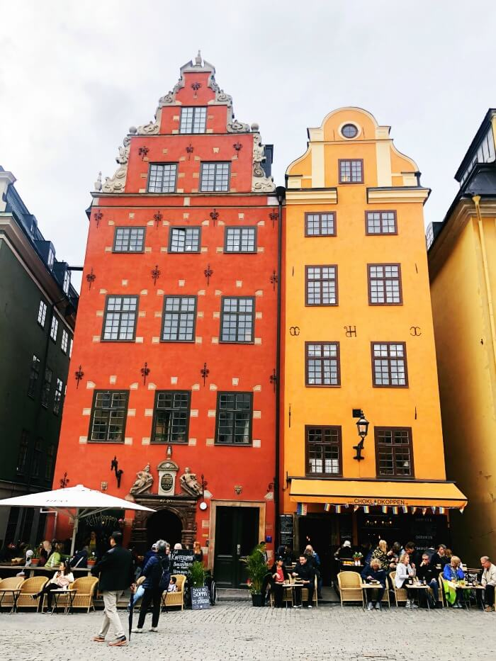 BRIGHTLY COLORED BUILDINGS IN STOCKHOLM