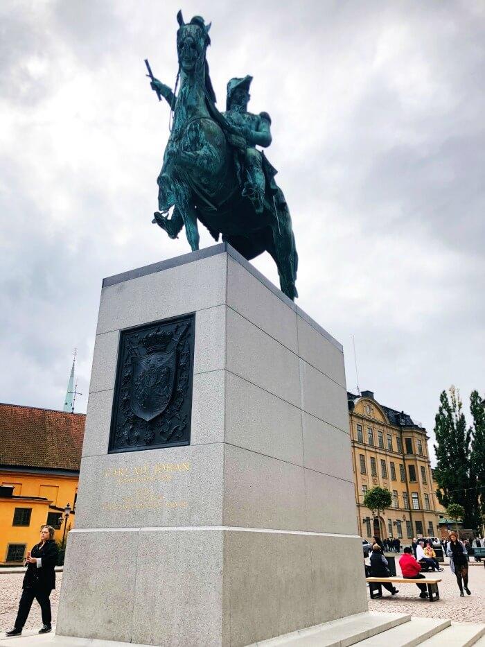 HORSE MONUMENT IN STOCKHOLM SWEDEN
