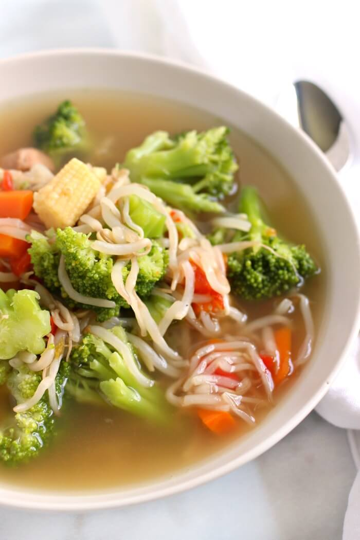 EASY CHOW MEIN SOUP