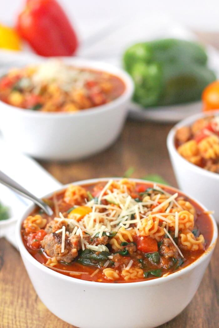 ITALIAN SOUP WITH SAUSAGE IN IT