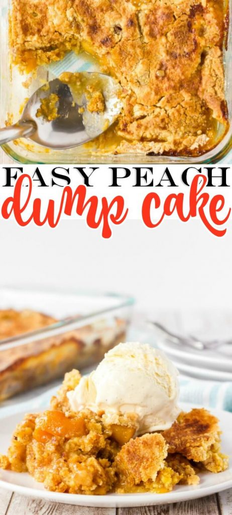 HOW TO MAKE PEACH DUMP CAKE COBBLER