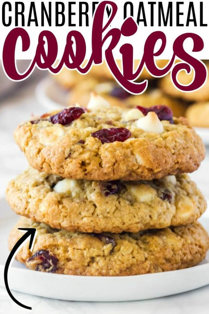 WHITE CHOCOLATE CRANBERRY OEATMEAL COOKIES