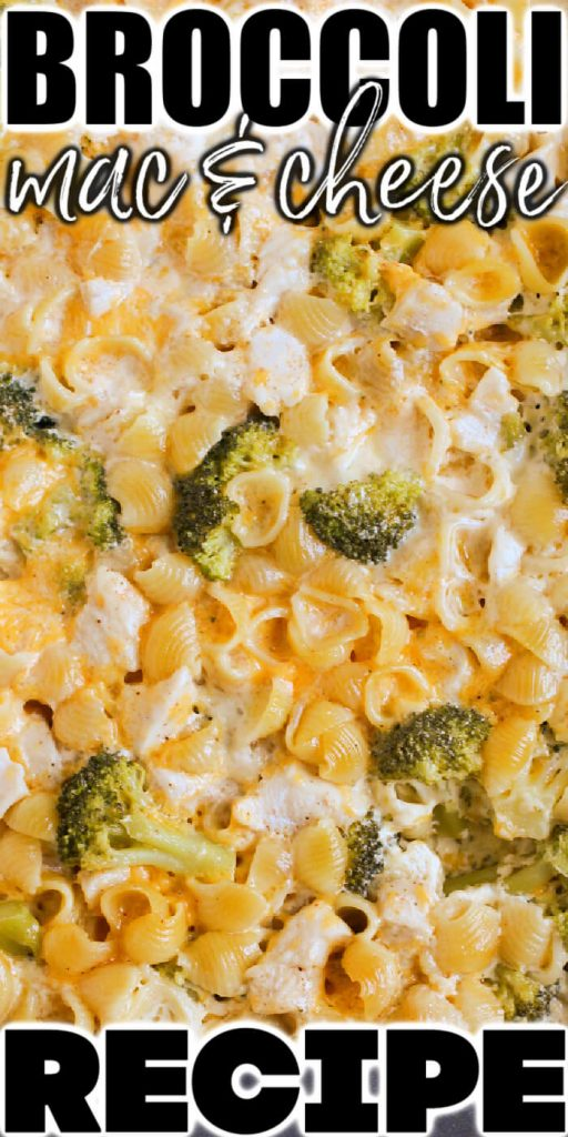 HOMEMADE BROCCOLI MAC AND CHEESE WITH CHICKEN