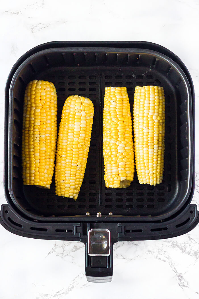 HOW TO MAKE AIR FRYER CORN ON THE COB