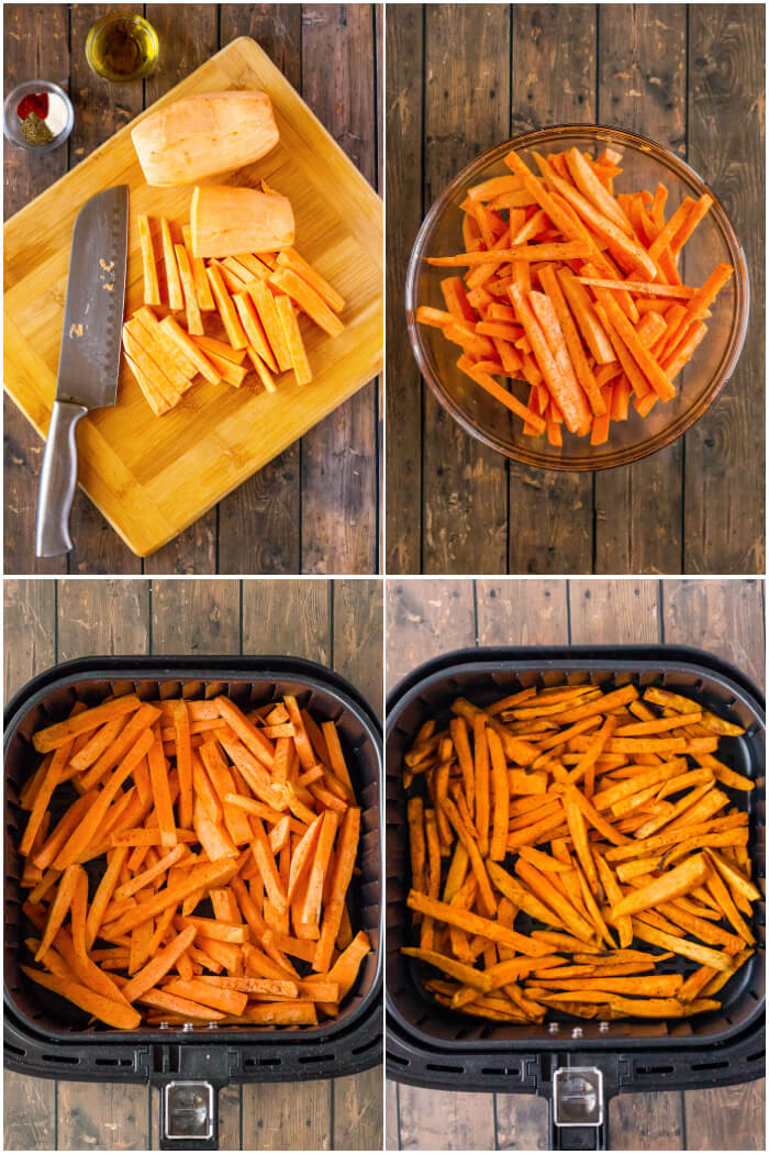 HOW TO MAKE SWEET POTATO FRIES IN AIR FRYER