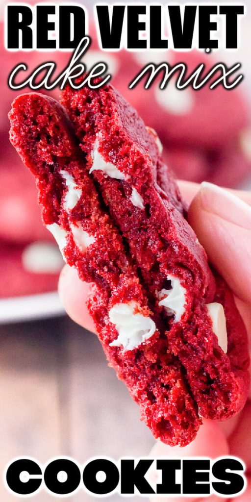 EASY RED VELVET COOKIES WITH CAKE MIX