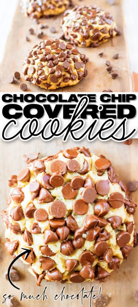 GIANT CHOCOLATE CHIP COVERED GIDEONS BAKEHOUSE COPYCAT COOKIES