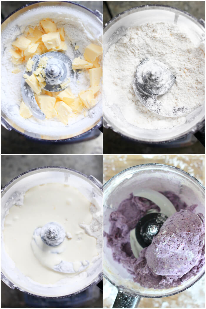 HOW TO MAKE BLUEBERRY SCONES WITH A FOOD PROCESSOR