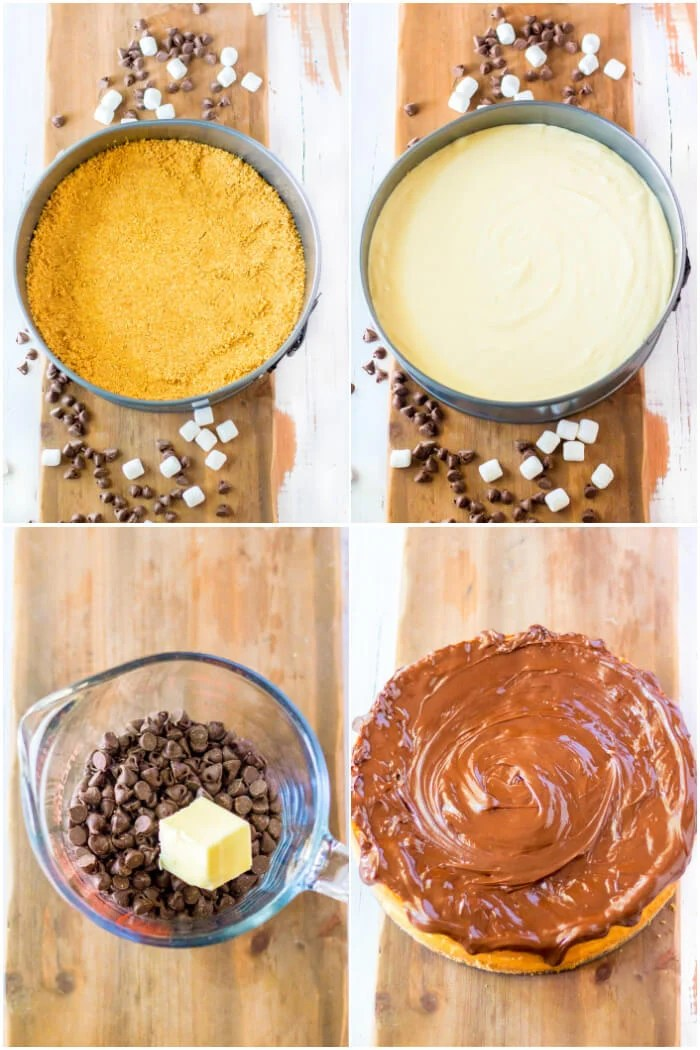 HOW TO MAKE ROCKY ROAD CHEESECAKE