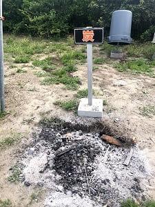 九十九里シーサイドオートキャンプ場の炭捨て場