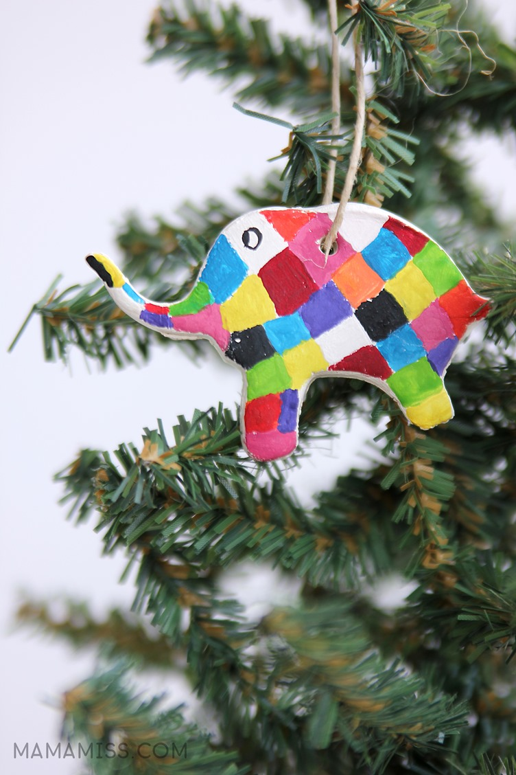 Painted Elmer Ornament 10 Days Of A Kid Made Christmas