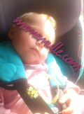 Schlafen im neuen Kindersitz - die erste längere Fahrt, Test bestanden!