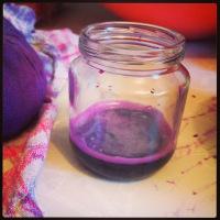 peinture végétale au jus de chou rouge