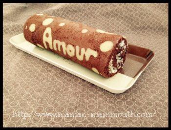 Mes voeux en roulé chocolat coco