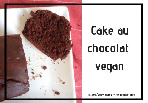 Cake au chocolat vegan
