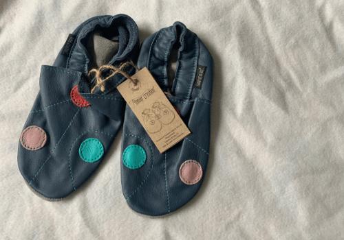 Chaussons en cuir souple pour adulte