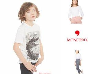 Monoprix Soldes été 2018 vetements Enfant