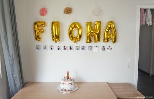organisation-premier-anniversaire-bebe-gateau-licorne-ballon-lettres-deco-buffet-1