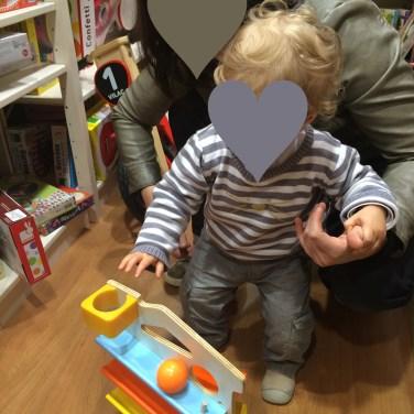 jeu de boule en bois enfant