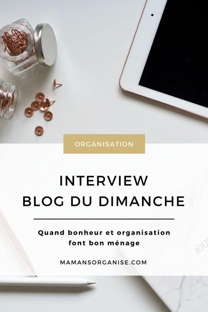 Découvrez l'interview de la talentueuse Elodie Legale du Blog du Dimanche, jeune maman entrepreneuse et ultra organisée.