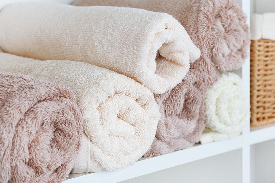 Rangement des draps et du linge de toilette