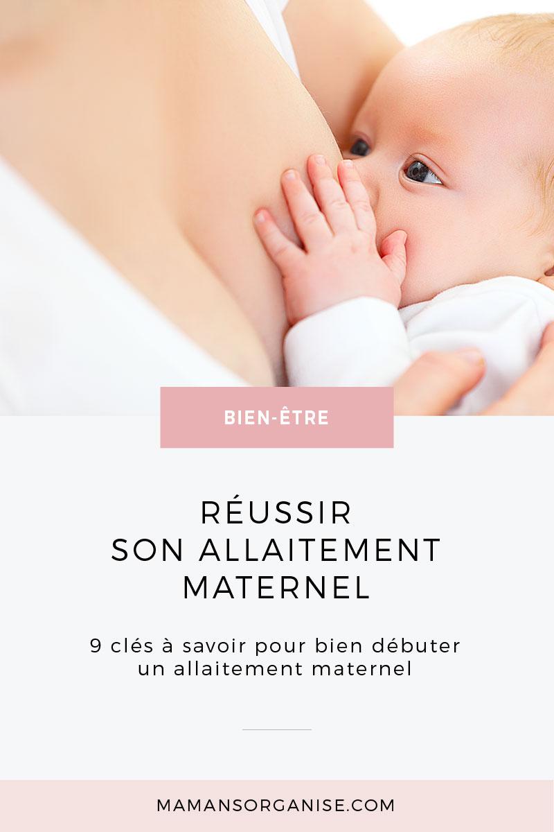 Vous attendez un bébé et vous pensez à l'allaitement maternel ? Dans l'article qui suit, je vous propose 9 clés afin de mettre toutes les chances de votre côté pour bien démarrer votre projet d'allaiter.